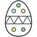 decorated egg, easter decoration, easter egg, easter ornaments, paschal egg icon