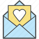 card, envelope, heart, letter, love, love letter, valentine, valentine day icon