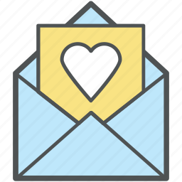 card, envelope, heart, letter, love, love letter, valentine, valentine day icon