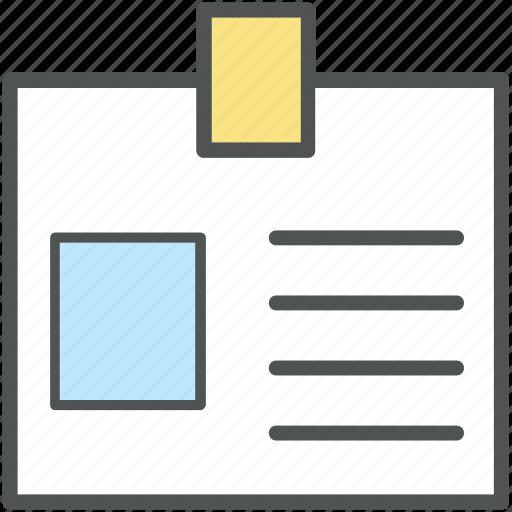 badge, id, identification, identity card, volunteer card icon