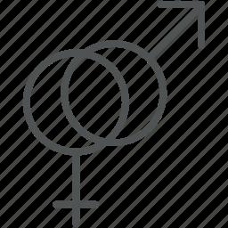 female gender, gender sign, gender symbols, male gender, sex symbols icon