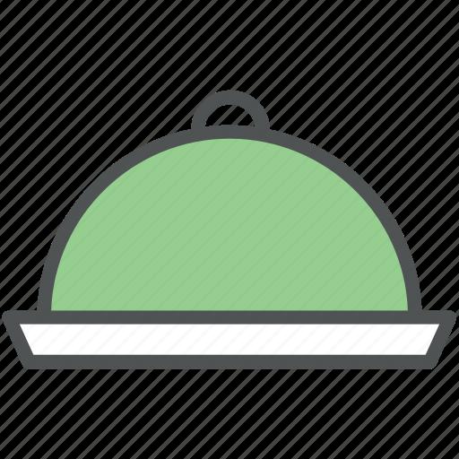 chef platter, covered platter, food platter, platter, serving platter icon