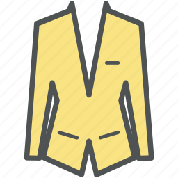 blazer, coat, dress coat, greatcoat, suit coat icon