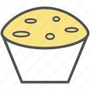 bakery food, birthday cupcake, cupcake, dessert, fairy cake, muffin icon