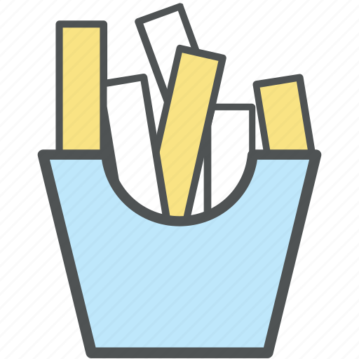 chips, finger chips, french fries, french fries box, fries, fries box, frites, potato fries icon