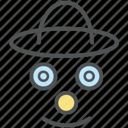 face, happy smiley, jester face, joker avatar, joker face icon