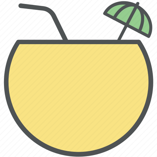 Coconut drink, coconut fruit drink, coconut juice, coconut water, tropical icon - Download on Iconfinder