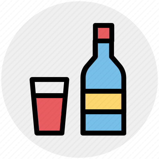 Alcohol, alcoholic drink, beer bottle, bottle, glass, wine, wine bottle icon - Download on Iconfinder