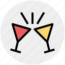 alcohol, beverage, champagne, drink, toasting, wine glass icon