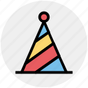 birthday, cap, cone hat, decoration, hat, party hat icon