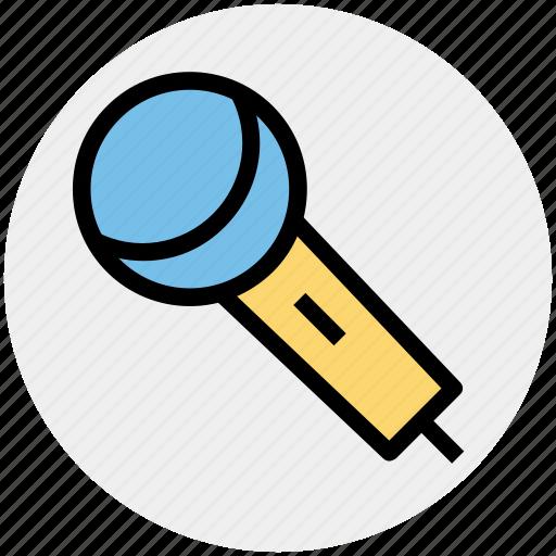 Mic, microphone, music, music notes, singing, speak icon - Download on Iconfinder