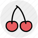 berry, cherries, cherry, food, fruit icon