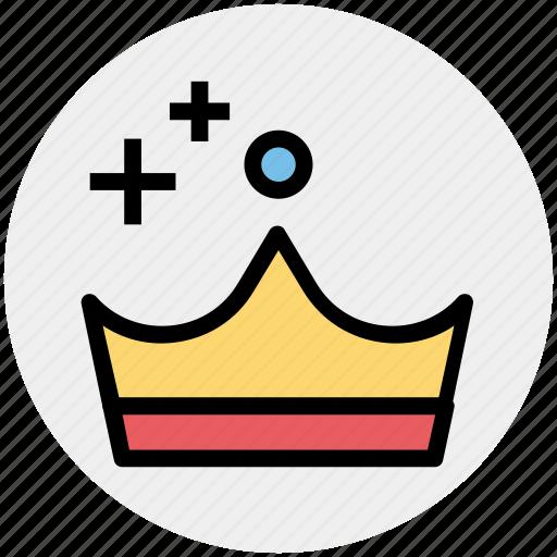 crown, headgear, king, prince, queen, royal icon