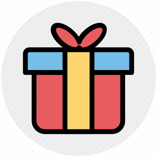 Birthday gift, gift box, present, present box, wrapped gift icon - Download on Iconfinder