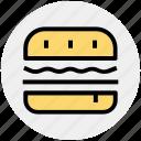 burger, cheese burger, fast food, food, hamburger, zinger icon