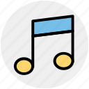 birthday, celebration, music, note, party, sound icon