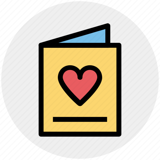 Bookmark, card, heart, invitation card, love card icon - Download on Iconfinder