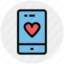 device, heart, love, mobile, phone, smartphone