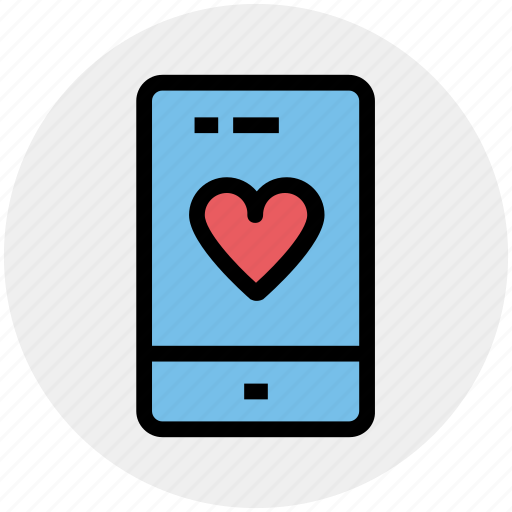 Device, heart, love, mobile, phone, smartphone icon - Download on Iconfinder