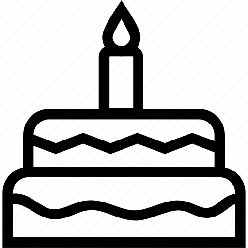 anniversary cake, birthday cake, cake, celebration cake, dessert, gift cake, happy birthday, sweet icon