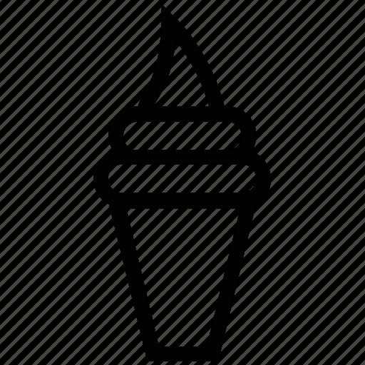cone, cornet ice cream, dessert, ice cream, ice cream cone, poke ice cream icon