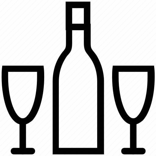 cold drink, drink, drink and bottle, glass and bottle, vodka, whiskey, wine icon