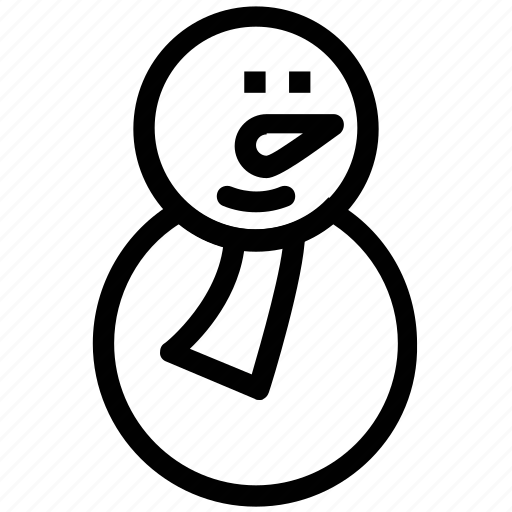 christmas, cold, frosty, melting, snowman, spring, winter icon