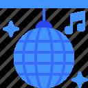disco, ball, party, club, entertainment