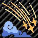 star, sky, night, shooting, cloud, astronomy, comet