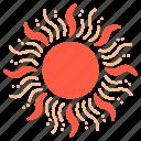 sun, sunlight, summer, sunshine, light, sunny, warm icon