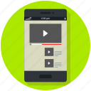 mobile, player, video, video player icon, • app icon