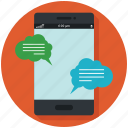 chat, communication, mobile, phone, speech, talking icon, • app icon