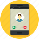 application, communication, mobile, phone, receiver, smartphone icon, • app icon