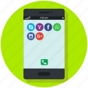 communication, device, mobile, smartphone, social networks apps, technology icon, • apps icon