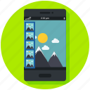 images, mobile app, photography, photos, pictures, smartphone icon, • gallery icon