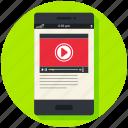 movie, multimedia, play, player, video, youtube icon, • media icon