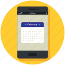 application, calendar, mobile, phone, smartphone icon, • app icon