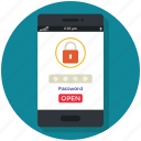 lock, mobile, phone, security icon, • app icon