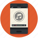 device, mobile, music, play, player icon, • audio icon