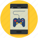 controller, games, gaming, mobile, online, phone icon, • app icon