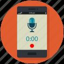 audio, mobile, record, recording, voice icon, • app icon