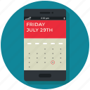 application, calendar, date, event, mobile, smartphone icon, • app icon