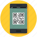 commerce, mobile, phone, qr, retail, shopping icon, • code icon