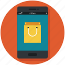 mobile, shop, shopping, shopping app, shopping cart, store icon, • app icon