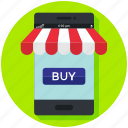 ecommerce, finance, mobile app, online, shop, shopping icon, • buy icon