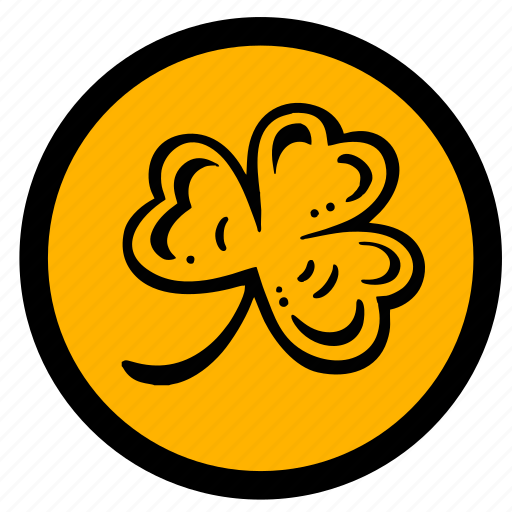 celtic, clover, label, round, sign icon