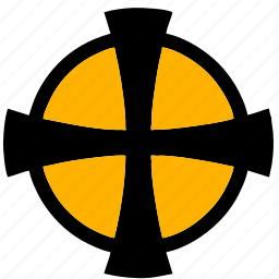 celtic, cross, label, sign icon