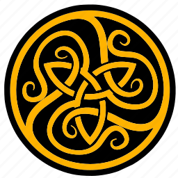 celtic, label, round, sign icon