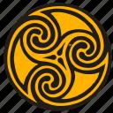 celtic, label, round, sign