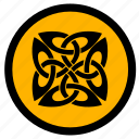 celtic, label, round, sign, tattoo icon